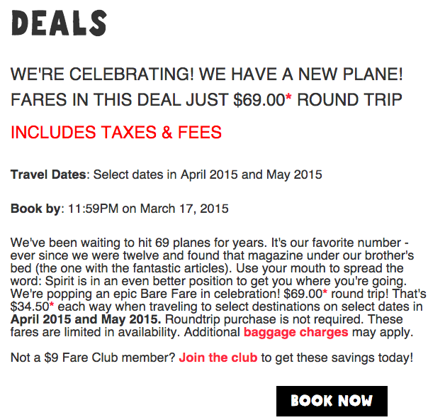 Spirit Airlines New $69 Promotion is Ballsy and In-Your-Face