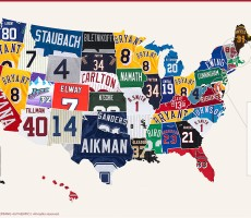 Here's A Map Of The Best-Selling Throwback Jersey In Your State
