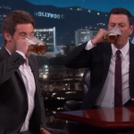 """Jimmy Kimmel And Adam DeVine Busted Out A """"Man Show"""" Toast Last Night"""