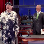 Bill Murray Popping Out Of A Cake Is The Only Way To Celebrate Letterman's Second-To-Last Show