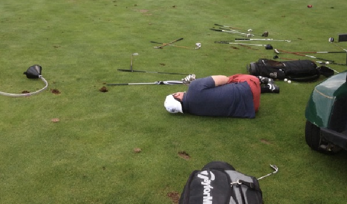 The Thoughts You'll Have While Golfing With A Massive Hangover