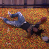 Marshawn Lynch Performs Signature Touchdown Leap Into Tub Full Of Skittles On Conan