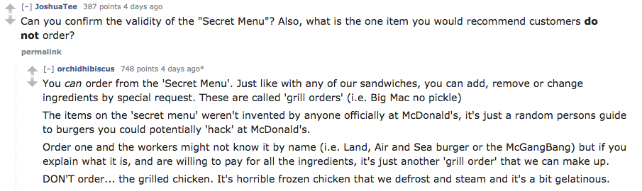 There's A McDonald's Secret Menu, And Everything About It Is Depressing