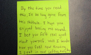 This Crybaby Intern Left The Most Pathetic Tantrum Note For His Bosses, Is Unemployable