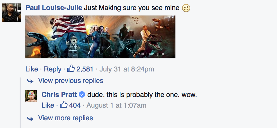 Chris Pratt Asked The Internet To Make Him A Facebook Header And This Is What Happened