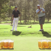 "Here's Kevin From ""The Office"" Playing Beer Pong On A Golf Course"