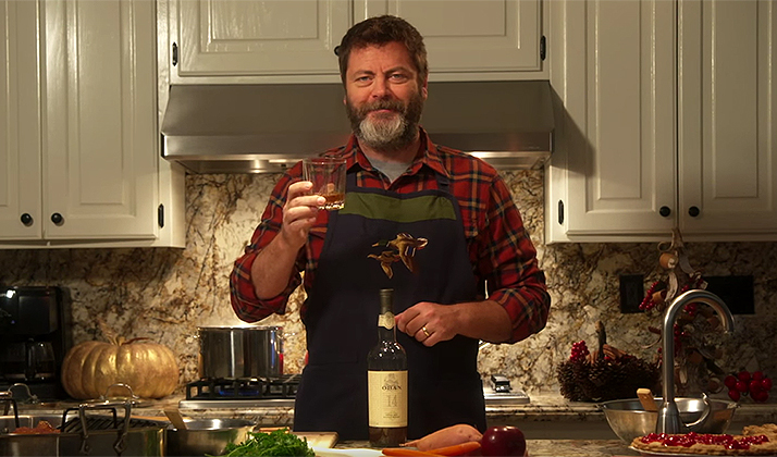 Nick Offerman Just Dropped 3 More Scotch-Soaked Videos To Further Show He's More Of A Man Than You