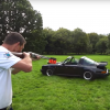 This Mad Man Rigged A Clay Shooting Trap Onto His Porsche And Absolutely Tore Shit Up