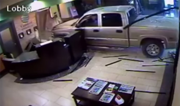 "Woman Crashes Her Car Into Hotel, Gets Out, Makes Coffee, Lights Cigarette, And Assures Everyone That ""Everything Is Fine"""