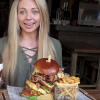 Get A Load Of This Tiny British Chick Eating A 28-Ounce Burger In Under 10 Minutes