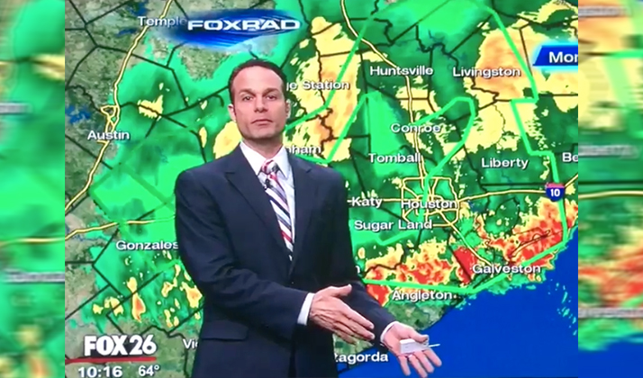Local Weatherman Vows To Embarrass Any Bosses Who Make Their Employees Come In During Rainstorm