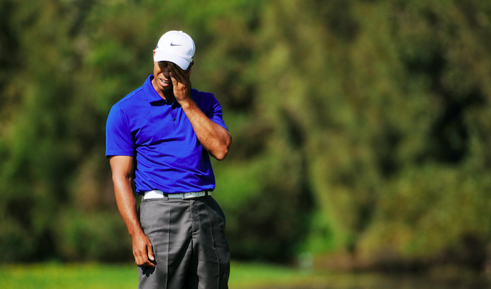 Tiger Just Put 3 In The Drink At Congressional, May Not Be Back Yet