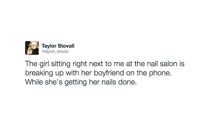 I Sat Next To A Sorority Chick In The Nail Salon And Live-Tweeted Her Break Up With Her Boyfriend Over The Phone
