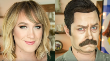 This Girl Just Blew My Mind By Turning Herself Into Ron Swanson Using Makeup