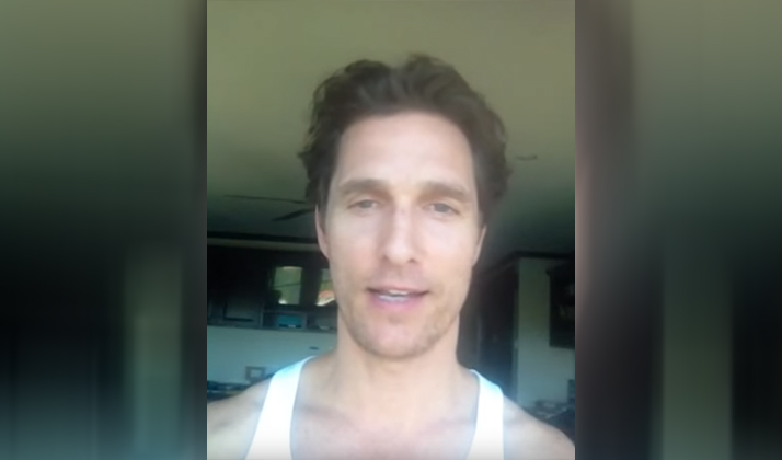 Matthew McConaughey Has A Personal YouTube Channel That's Been Flying Under The Radar For Over A Year