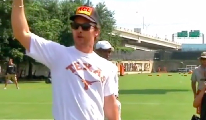 Matthew McConaughey's Speech Ahead Of Texas' Upset Over Notre Dame Was Electric