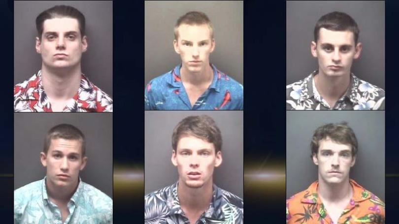 These 6 Dudes In Hawaiian Shirts Just Had The Chillest Arrest Ever