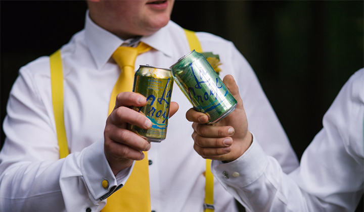 Did These Dudes Really Pose With Lacroix In Their Groomsmen Photos?