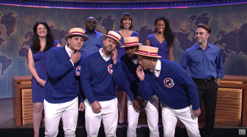 Billy Murray And The Chicago Cubs Went On SNL's Weekend Update To Sing 'Go Cubs Go'