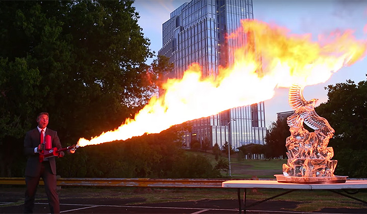 The Texas Law Hawk Just Dropped A New Christmas Commercial With Flamethrowers And A Partying Santa