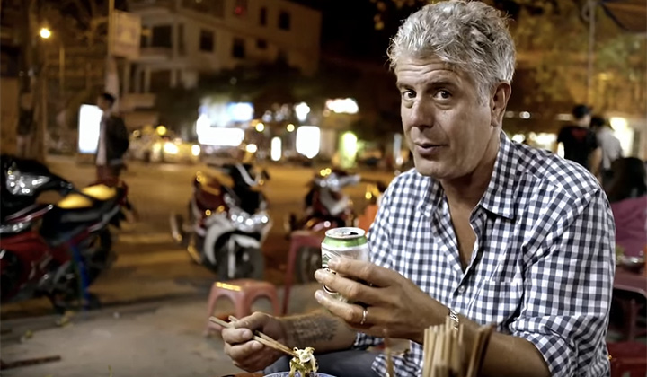 A Protester Came At Anthony Bourdain, And It's Safe To Say That Bourdain Wasn't Having It