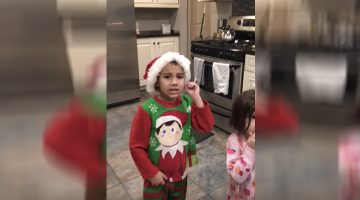All Hell Breaks Loose When This Dad Busts Out An 'Elf On The Shelf' In Front Of His Kids