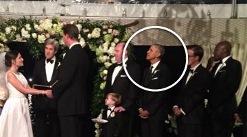 Obama Was A Groomsmen In A Wedding After His Farewell Last Night