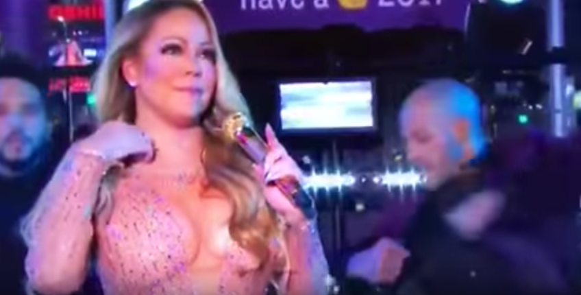 Watch Mariah Carey's Abomination Of A New Year's Eve Performance From Last Night