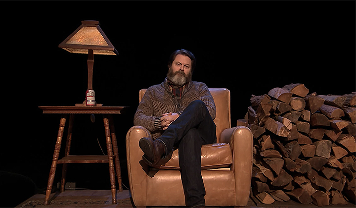 Nick Offerman Read A Majestic Poem About Firewood On Jimmy Fallon Last Night