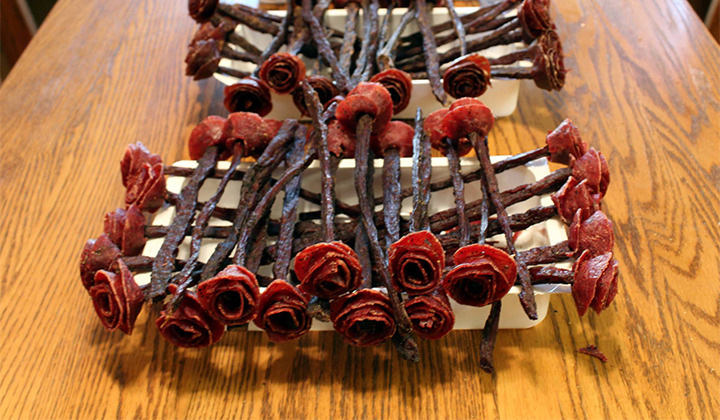 """Beef Jerky """"Broquets"""" Are Here To Solve All Of Your Valentine's Day Problems"""