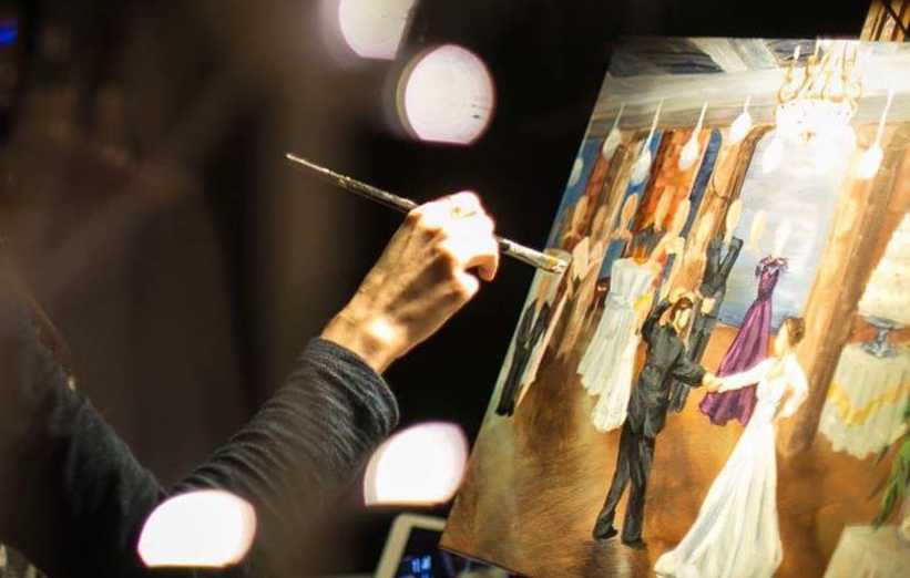 Live Wedding Paintings Are The Newest Over-The-Top And Absurdly Expensive Wedding Trend
