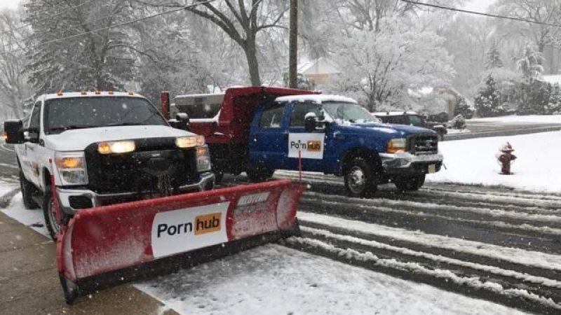 PornHub Is Plowing Boston's Snowy Streets Today For Free So People Can, You Know, Go Out And Plow