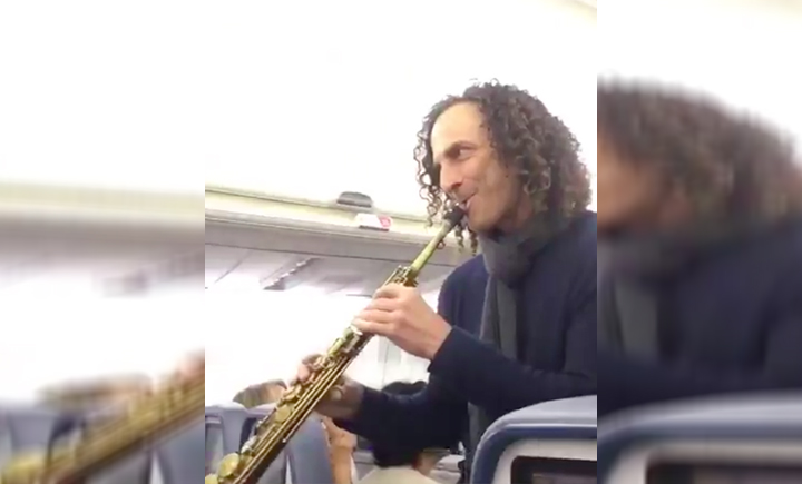 Sax Legend Kenny G. Blessed A Bunch Of Delta Passengers With An Impromptu Show
